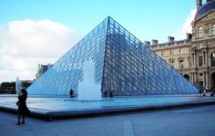 The entrance of the Louvre,