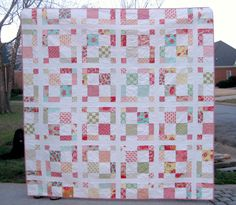 PDF Quilt Pattern - Charming - Baby Quit - Lap Quilt - Queen Quilt - Layer Cake and Charm Pack friendly -Easy Quilt Pattern - Modern Quilt