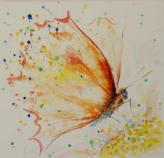 Watercolour paintings – Butterfly - Original watercolor painting – a unique product by Radikacolours on DaWandaBuy Two Get One Free Watercolor PaintingYou've searched for Watercolor Paintings! Butterfly Painting, Butterfly Watercolor, Butterfly Art, Watercolor And Ink, Watercolor Paintings, Butterflies, Drip Art, Watercolor Projects, Insect Art