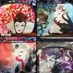 Spotted: Disney Villain Makeup Bags at Walgreens #disney #disneyvillain