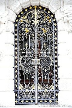 Wrought Iron Door. Awesome work.
