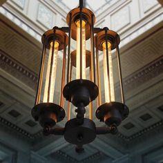 Brass Vintage Industrial Pendant Ceiling Edison Filament Light Chandelier