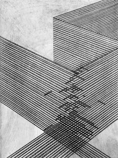 Danny Jauregui | Ruin #7, 2007 | Graphite and ash on panel
