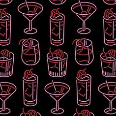 Emerging graphic designers on love this cute neon cocktail illustration from atlanta based sassoandco share your work with us by including tdkpeepshow in your best cocktails illustrations classic glass whiskey images on designspiration Food Graphic Design, Retro Design, Graphic Design Illustration, Book Design, Graphic Designers, Bourbon Cocktails, Cocktail Book, Cocktail Menu, Cocktail Illustration