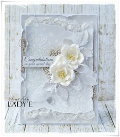 Beautiful Card: White on White