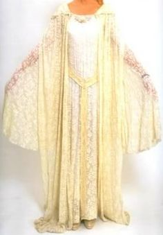 Galadriel's Mirror Gown with cloak LOTR