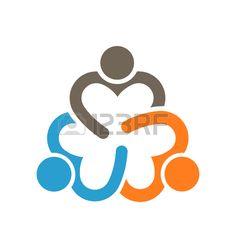 Social People Relationship Logo. Vector Illustration