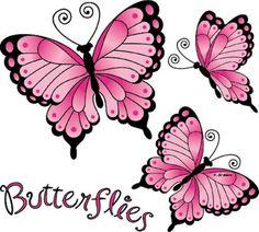 Butterflies Pretty Black and Pink  Butterflies WOMANS QualityT Shirt