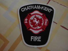 Patch fire  CHATHAM-KENT fire department Ontario Canada  Rarity 100% ORIGINAL