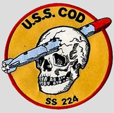 USS Cod (SS/AGSS/IXSS-224) 1943, Was a Gato-class submarine, the only vessel of the United States Navy, patch