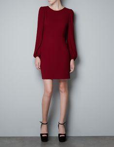 PUFF SLEEVE DRESS - Dresses - Woman - ZARA United States