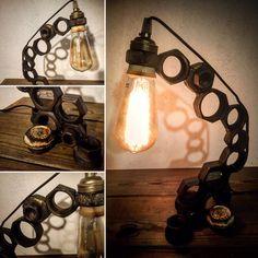 Les écrous par lampesoriginales .com metal nuts lamp par lampesoriginales sur Etsy https://www.etsy.com/fr/listing/528879526/les-ecrous-par-lampesoriginales-com