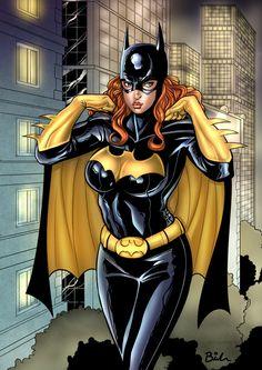 Batgirl Barbara Gordon by KRTArt via DeviantArt Marvel Dc Comics, Dc Comics Girls, Dc Comics Superheroes, Dc Comics Art, Superhero Villains, Dc Comics Women, Marvel Girls, Batman And Batgirl, Batman Art