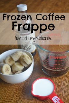 Frozen Coffee Frappe.  Just 4 ingredients.  SO much healthier than Starbucks!