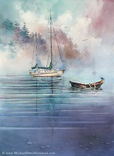 """In the Mist"" - Watercolor by Michael David Sorensen."