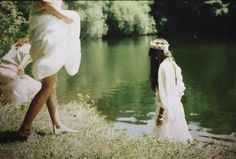 White dresses, Flower Crowns, and a Lake.