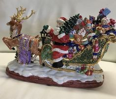 CHRISTOPHER RADKO Sleighful of Joy Cookie Jar Centerpiece Home for the Holidays