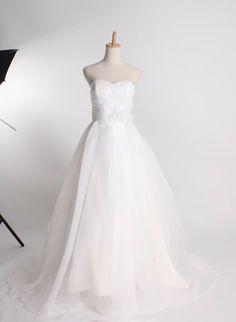 Fashionable sweetheart empire waist organza wedding dress...needs lace...lots of lace