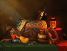 Zelda Still Life, companion to my Mario Still Life I'll be bringing this one to Fan Expo as well, but you can also buy it here: 8x10 print or 18x24 print