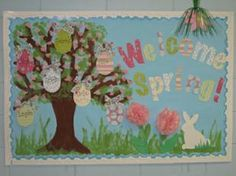 Check out this gorgeous spring bulletin board created by Sarah Rettew! The pastel colors are perfect for the season, the patterned scrapbook papers/ribbons create lots of visual interest, and the...