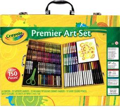 This Inspiration Art Case by Crayola has a 5-star rating on Amazon. Top quality assortment of art materials in sturdy case with snap-fit trays for neatness. Set includes crayons, washable markers, colored pencils, safety scissors, and blank sheets of paper for instant fun right out of the box! $23.99 on Amazon.
