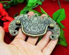 Replica antique Chinese bat drawer pull