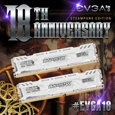 A big thank you to @ballistixgaming for donating awesome prizes for our 18th Anniversary Event! #EVGA18 http://ift.tt/2tDxisd . . . . #ballistixgaming #ballistix #CrucialMemory #DDR4 #teamevga #technology #techworld #hightech #pcgaming #instagamer #gaming #online #game #onlinegaming #pcgamer #pcmasterrace #pcmr #battlestation #gamingcomputer #computer #computers #computertechnology #gamer #gamingpc #gamingrig #gamingsetup #pc #pcbuilds #pcgamer