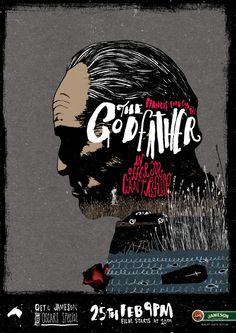 The Godfather: QFT & Jameson Presents - Peter Strain Illustration