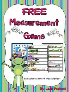 FREE For Kindergarten and First! Students practice non-standard length measurement with caterpillars and bees. Super cute graphics and lots of fun! Just print, cut, laminate, and use year after year!