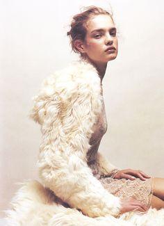 Natalia Vodianova by Jean Baptiste Mondino for Numero #37 October 2002 via www.fashionedbylove.co.uk
