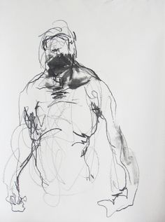figure drawing from life Drawing 49 pastel by derekoverfieldart Human Figure Drawing, Figure Sketching, Life Drawing, Drawing Sketches, Bad Drawings, Figure Drawings, Gesture Drawing, Character Drawing, New Art