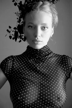 black & white & dots