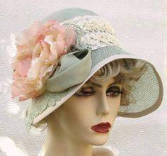 Vintage Summer Flapper Cloche Hat by Vintage Style Hats by Gail Tea Hats, Tea Party Hats, Cloche Hats, Tea Parties, Caroline Reboux, Vintage Outfits, Vintage Fashion, Wide Brimmed Hats, Fancy Hats
