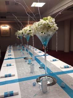 Anniversaire 40 ans de mariage on pinterest martinis vases and turquoise - Deco table anniversaire 40 ans ...