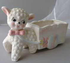Another lamb baby planter/vase