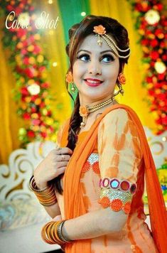 India it is referred as Haldi Ceremony and Turmeric ceremony in different states of India. Indian Bridal Photos, Indian Wedding Poses, Indian Wedding Couple Photography, Bride Photography, Indian Photography, Photography Ideas, Bride Poses, Bridal Photoshoot, Queen