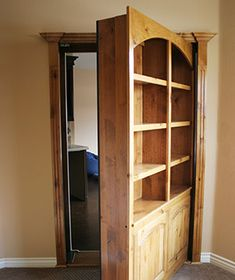 Secret Passage  You've dreamed about it; now you can get it: a revolving bookcase (you know, the type you see in old movie mysteries) that swings open to reveal a room beyond.  To buy: From $2,000, hiddendoors.com  many options wine racks/ media cabinets etc. very cool