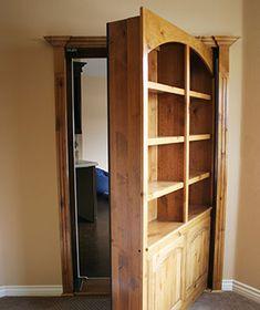 Secret Door ~ great project for hubby