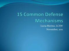 Defense Mechanism Examples | Defense Mechanisms Identify the ...