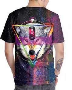 2130daea4 Galaxy wolf head t shirts for teens,made of polyester,cheap sale wolf  animal face t shirt short sleeve for 2017 summer streetwear,size from s to  xl,unisex ...
