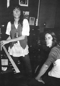 patti smith and todd rundgren, 1979, photo by kate simons.