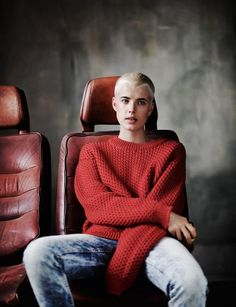 "Agyness Deyn photographed by Boo George in ""Soldier Boy"" for Love Magazine Fall & Winter 2010 — Portraits Of Girls Portrait Girl, Androgyny, Short Hair Styles, Agyness Deyn, Casual, Bald Girl, Style, Buzzed Hair, Fashion"