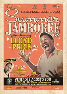LLOYD PRICE ... Summer Jamboree 2011 ... in the rockin town of Senigallia (Italy) ... Official Event Poster