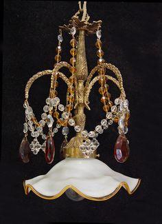 Vintage Italian MURANO Hand Blown GLASS by SharonsChandeliers, $225.00