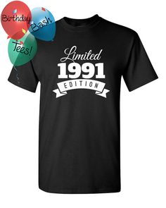 1991 Birthday Shirt 25 Limited Edition Birthday Shirt 25th Birthday Gift for Him…