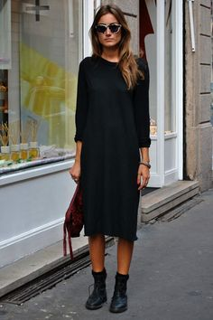the simplest of dresses with booties like GIORGIA TORDINI