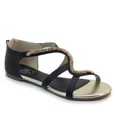 Look at this Black Gilded Serpent Sandal on #zulily today!