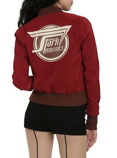 Marvel By Her Universe 'Stark Industries' Girls Bomber Jacket. This, I need this in my life. I would never wear another jacket.