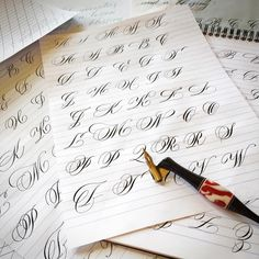 Majuscule practice practice practice.  Got something fun in the works!  #calligraphy #majuscules #practice #sumi #blanzy605 #zebrag #hunt101 #flourish #flourishforum #calligraphymasters #johnnealbookseller #paperandinkarts #backtozero