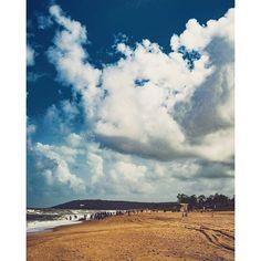 Goa @goatourism @everydaygoa #goa #india #nature #clouds #cloud #beach #water #blue @beautifuldestination #perfect #perfection #heaven #lovely #sun #people
